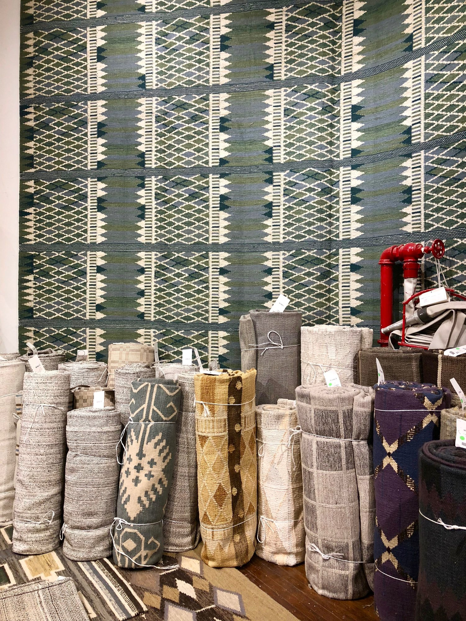 If only my suitcase was bigger -- desperately wanted to adopt all these one-of-a-kind rugs.