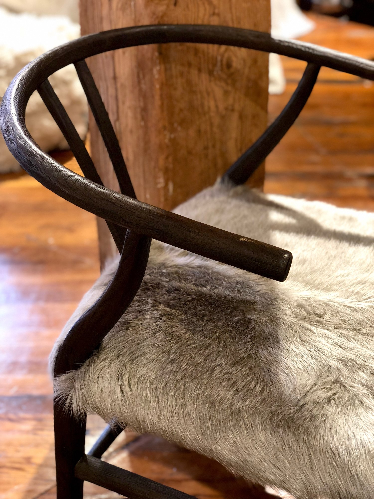 hair-on-hide-wooden-dining-chair-fur-desk-chair