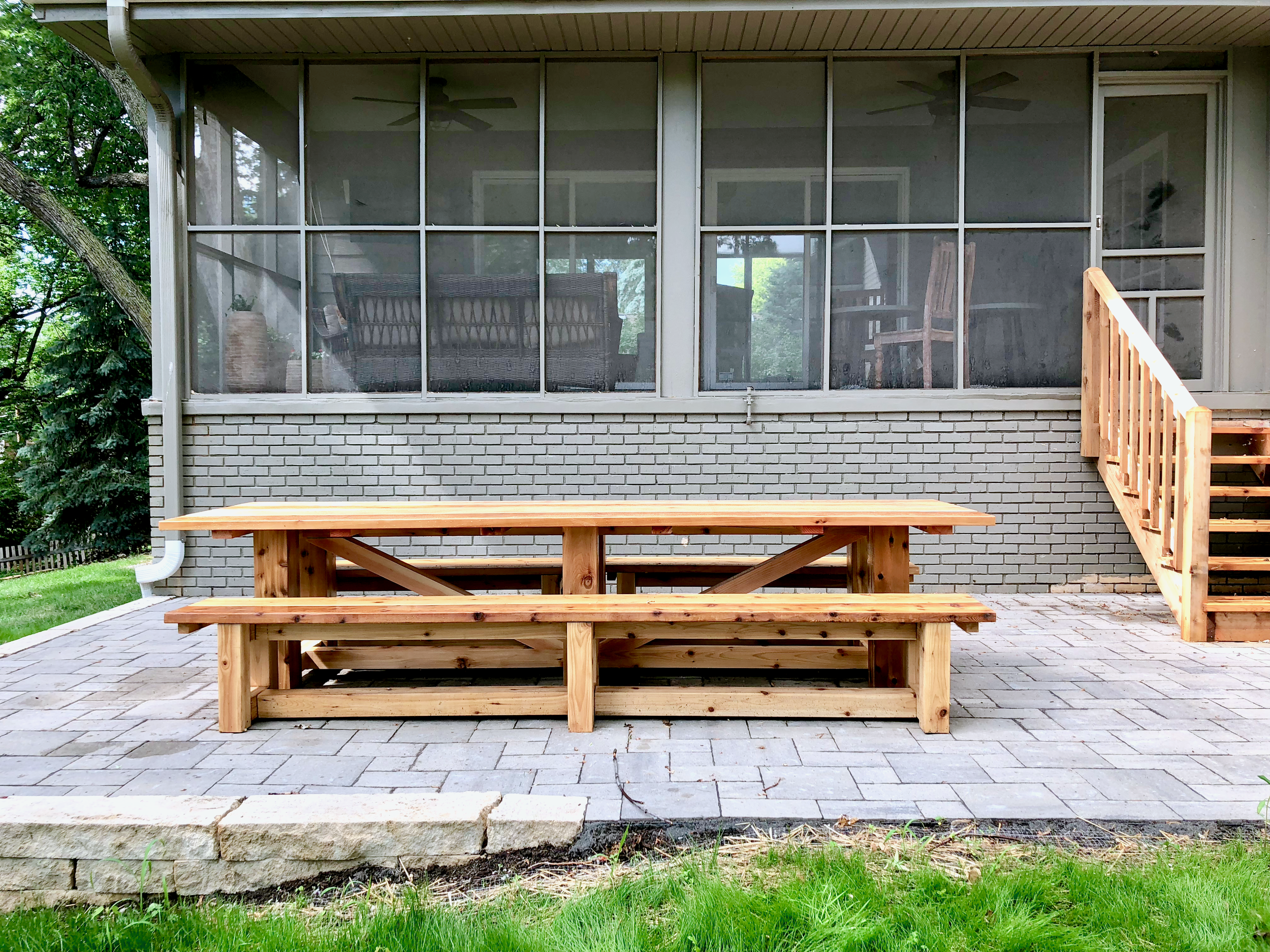 Custom 11' Outdoor Cedar Dining Table