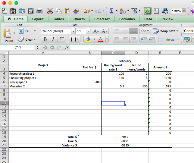 how an excel spreadsheet dramatically increased my monthly income