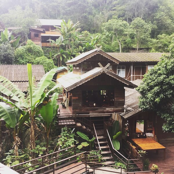 A village high in the mountains of Chiang Mai