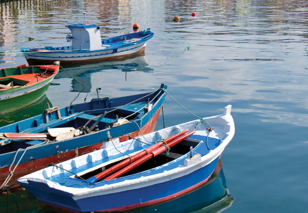 Small fishing boats are an integral part of the sustainable, eco-friendly fishing tradition in northern Spain.
