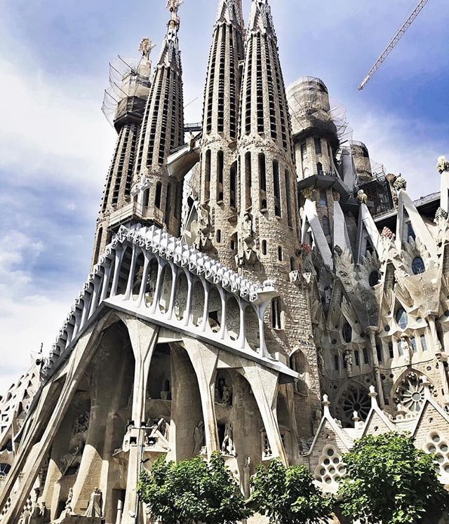 La Sagrada Família // The beautiful large unfinished Roman Catholic church in Barcelona
