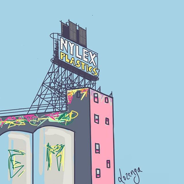 ICONIC // Art by @lozengaartdesign 🙌🏽 The Nylex Clock is heritage listed as an iconic feature of Melbourne and is considered part of the popular culture of the city. #zestimage