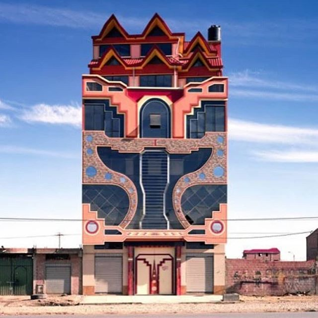 CREATIVE // @designboom in el alto, #bolivia, local architect #freddymamani has completed over sixty projects featuring eccentric façades inspired by indigenous craft traditions.