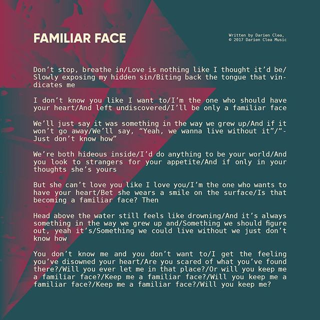 Familiar Face | Lyrics