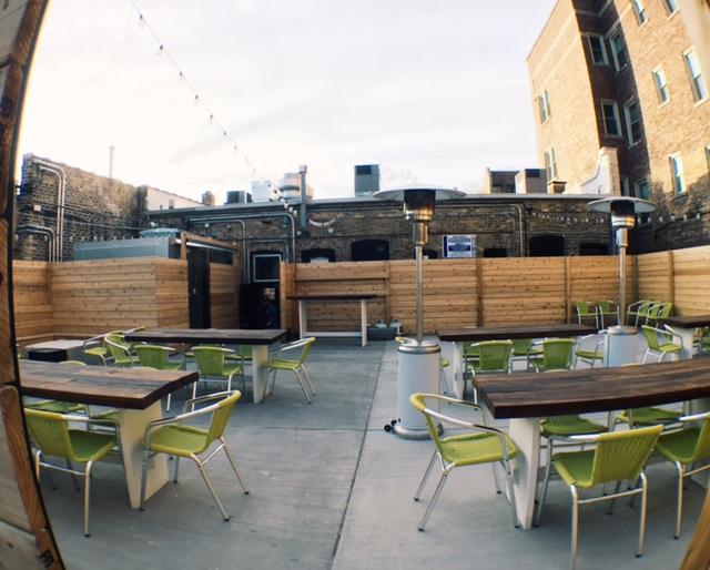 Spacious 50 seat beer garden