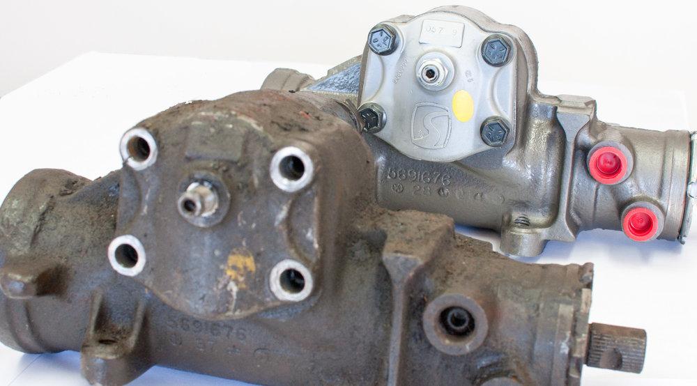 power gearbox rebuilds \u2014 powersteering com Ross Steering Gearbox gearbox before \u0026 after saginaw