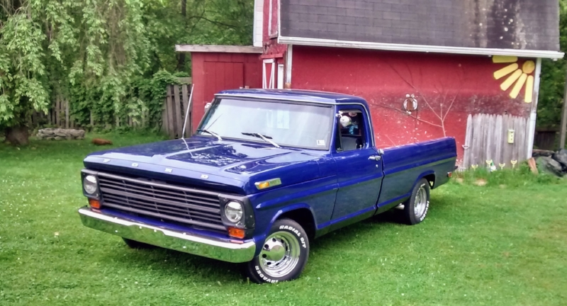 Scott's 1971 F100 with Ford Gearbox