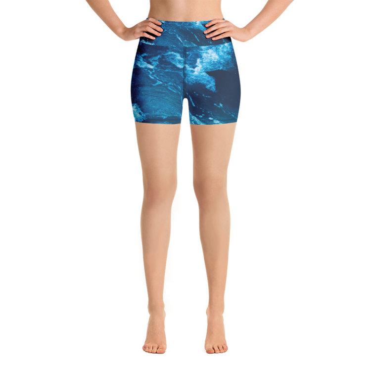 683a5fa957 High-Waisted Yoga Shorts - Nalu Print. mockup_Front_White-3.jpg