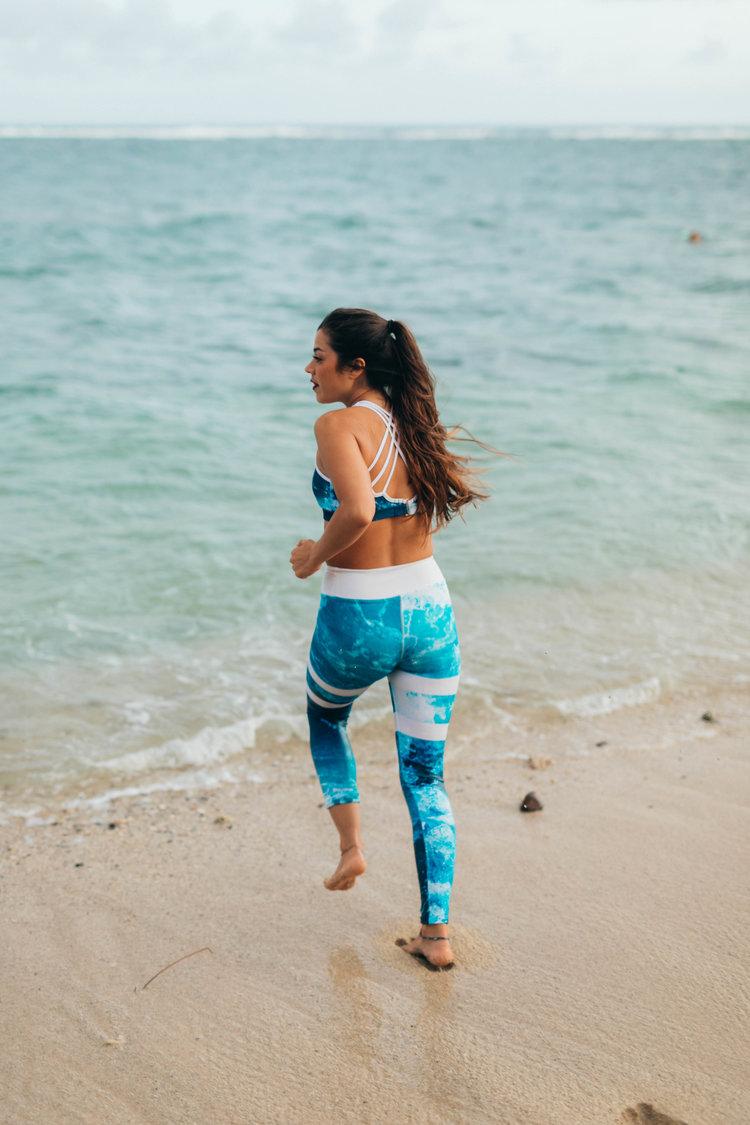 a5277da1f2c51 High-Waisted Yoga / Surf Pants - Nalu Print (White Stripes) — Kainoa ...