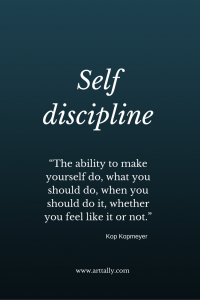 unstructured time and self discipline