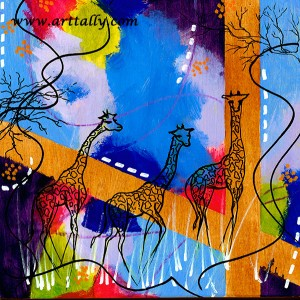baby giraffe no 2 Arttally