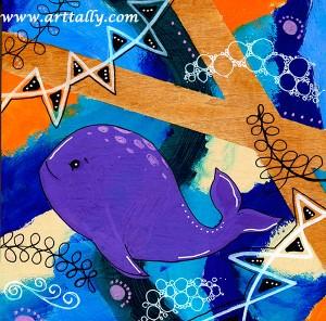 Whale acrylic paint arttally