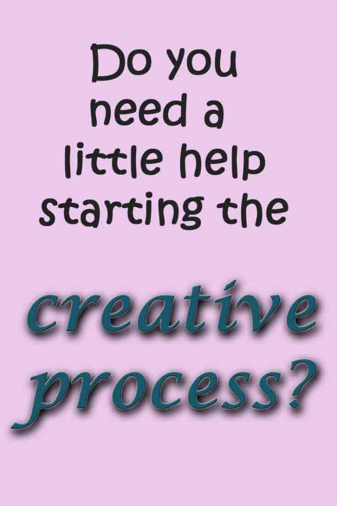 I have learned that you often need a little help starting the creative process. But now I also see that being inspired by some one else is perfectly ok.