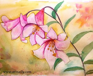 Watercolour flowers no 13 arttally