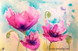 Watercolour flowers no 6 arttally