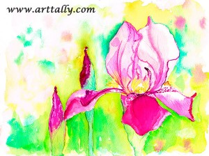 Watercolour flowers no 8 arttally