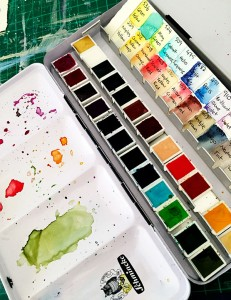 My lovely Schminke Watercolour paint box