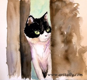 my last cat with Miriam arttally