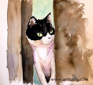 my last cat with Miriam arttally
