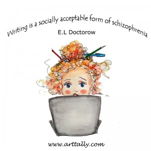does writing cause schizophrenia arttally
