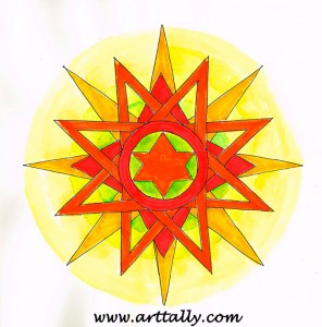 Mandala-no-8 arttally don't overthink it