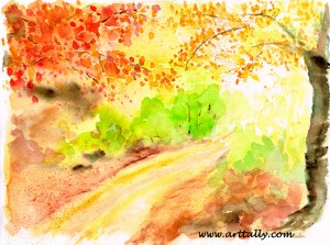 Fast and loose Autumnal scene