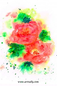 Camellias in Watercolour arttally