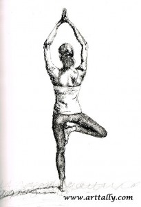 Yoga Values No 1 Tree Pose arttally