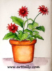 Plants in Pots No 1 arttally