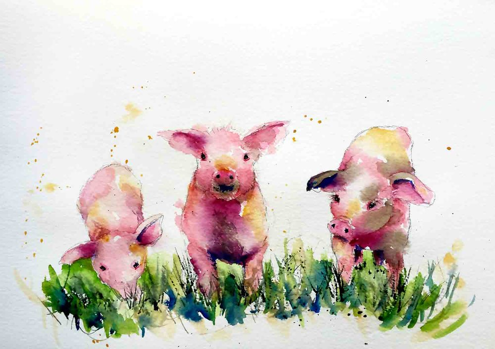 Painting Farm Animals With Spirit And Watercolour