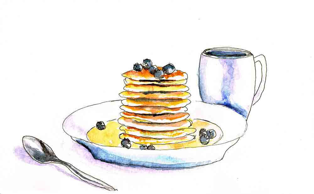 kitchen wall art prints pancakes kw