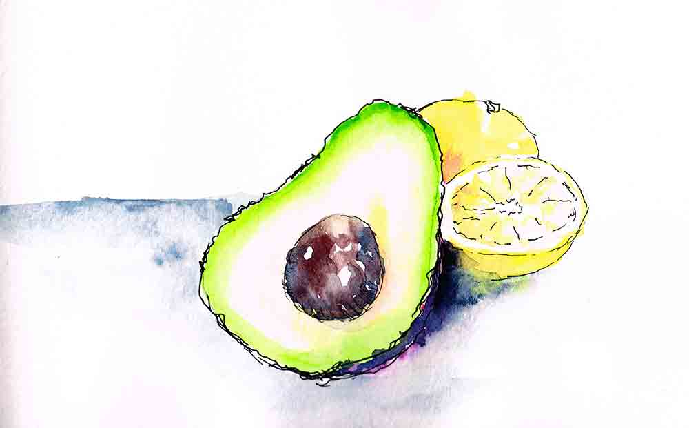 kitchen wall art prints avocado kw