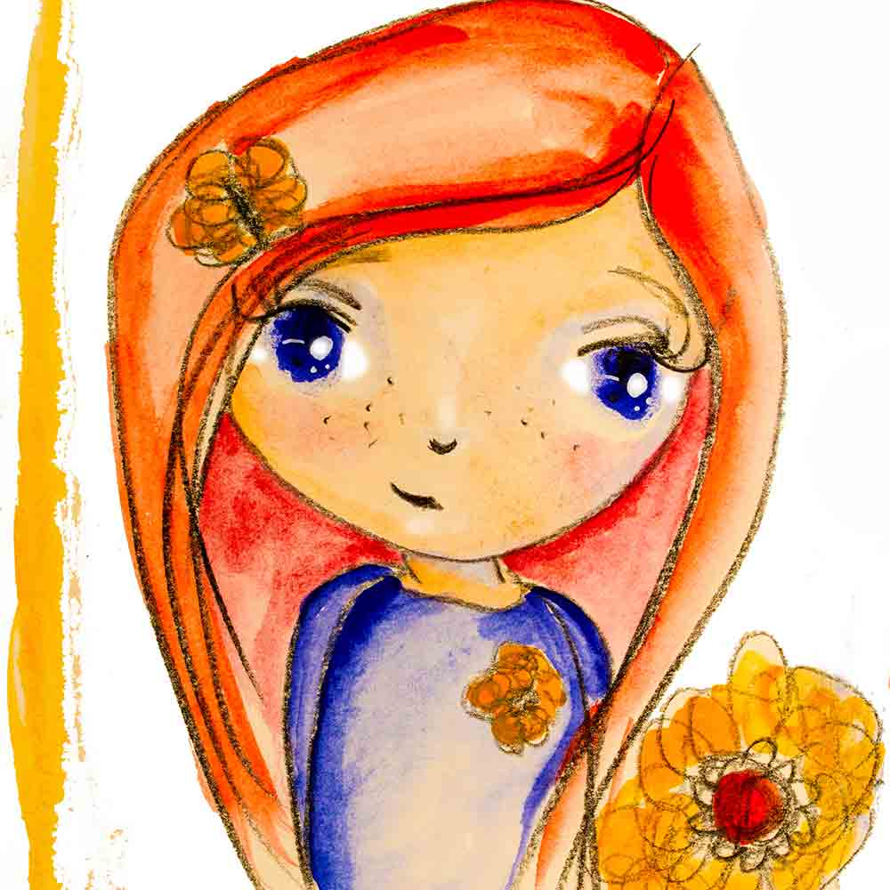 orange-hair-three-flowers-whimsical-art-print-kw.jpg