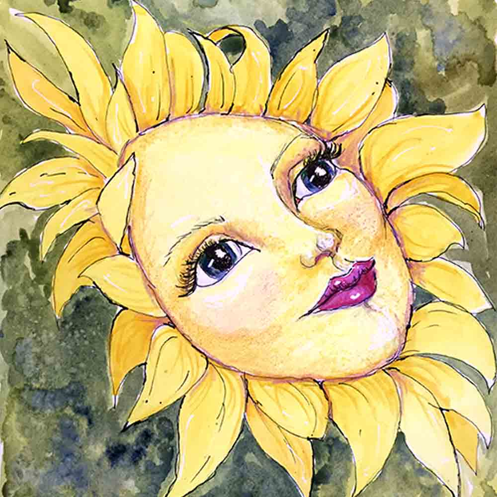 Flower Face No 9 Sunflower