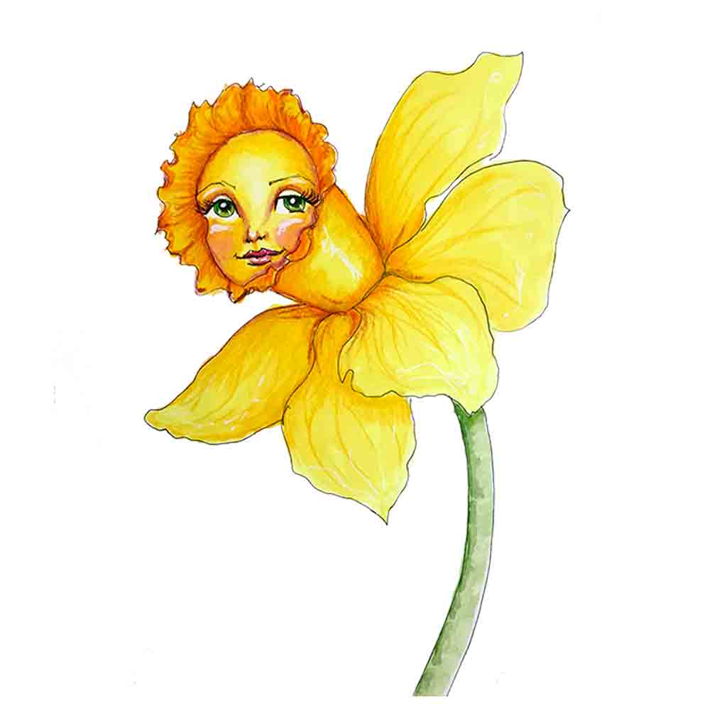 Flower Face No 19 Daffodil