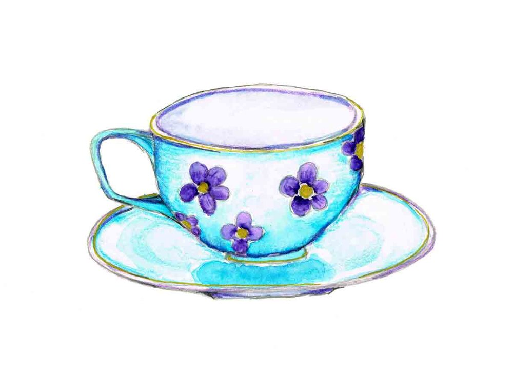 Tea-time-no-1-turquoise-cup-with-purple-daisies-kw.jpg