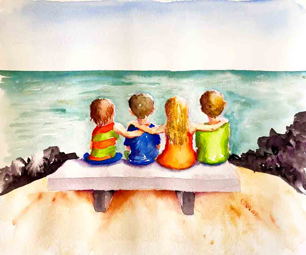 Nov 17 Watercolour Kids