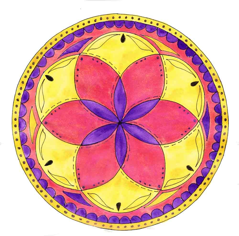 Mandalas with twinkling h2os