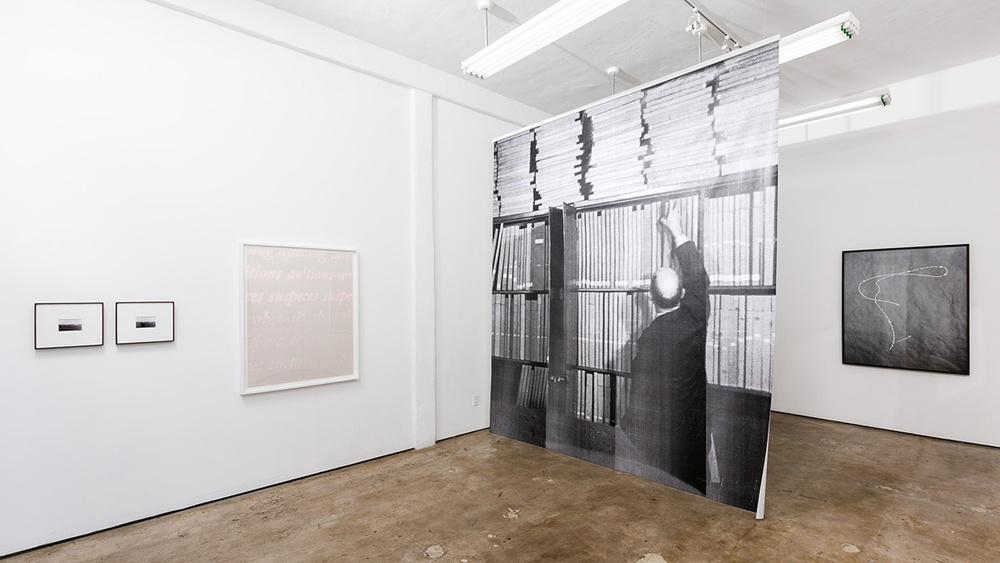 Installation view of  Remainder