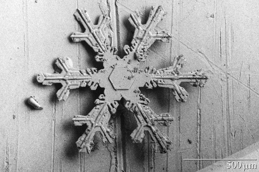 3-D snow
