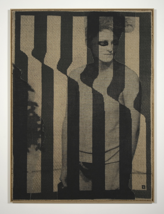 David Noonan, Untitled, 2009 Silkscreen on linen collage 154 x 146 cm. / 61.4 x 57.5 in.