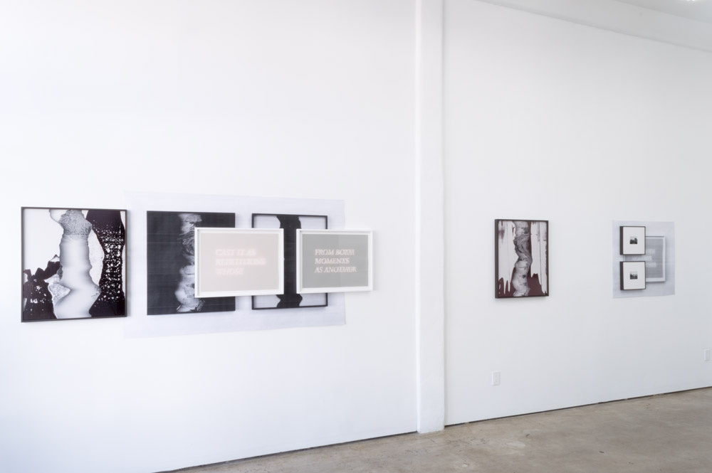 Installation view  From Both Moments As Another