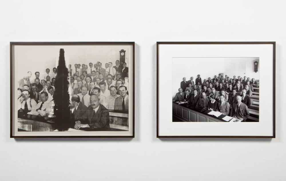 View of  Heisenberg , 2009 (left) and  Heisenberg , 2010 (right) Left: Silkscreen on paper, 28 x 21 inches Right: Silver gelatin print, 23 x 17 inches