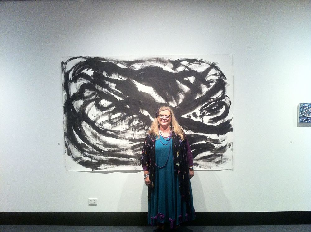 At the opening of my exhibition at Latrobe Regional Gallery in 2011.