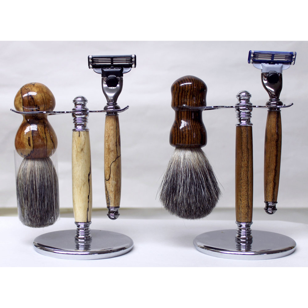 Razor Set with a Badger Hair Brush- $80-