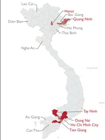 USAID SHIFT Focus Provinces