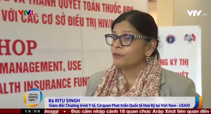 Bà Ritu Singh – Giám đốc Văn phòng Y tế, Cơ quan Phát triển quốc tế Hoa kỳ tại Việt Nam