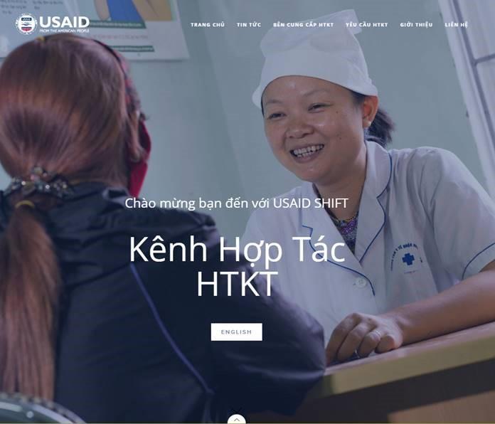 Ảnh: Màn hình của Kênh Hợp tác Hỗ trợ Kỹ thuật – Dự án USAID SHIFT (   www.TAMarketplace.org   )